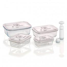 Контейнеры CASO VakuBoxx E-Set для вакуумной упаковки 4шт. с насосом