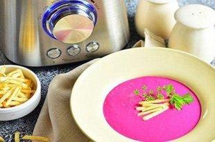 Холодный свекольный крем-суп